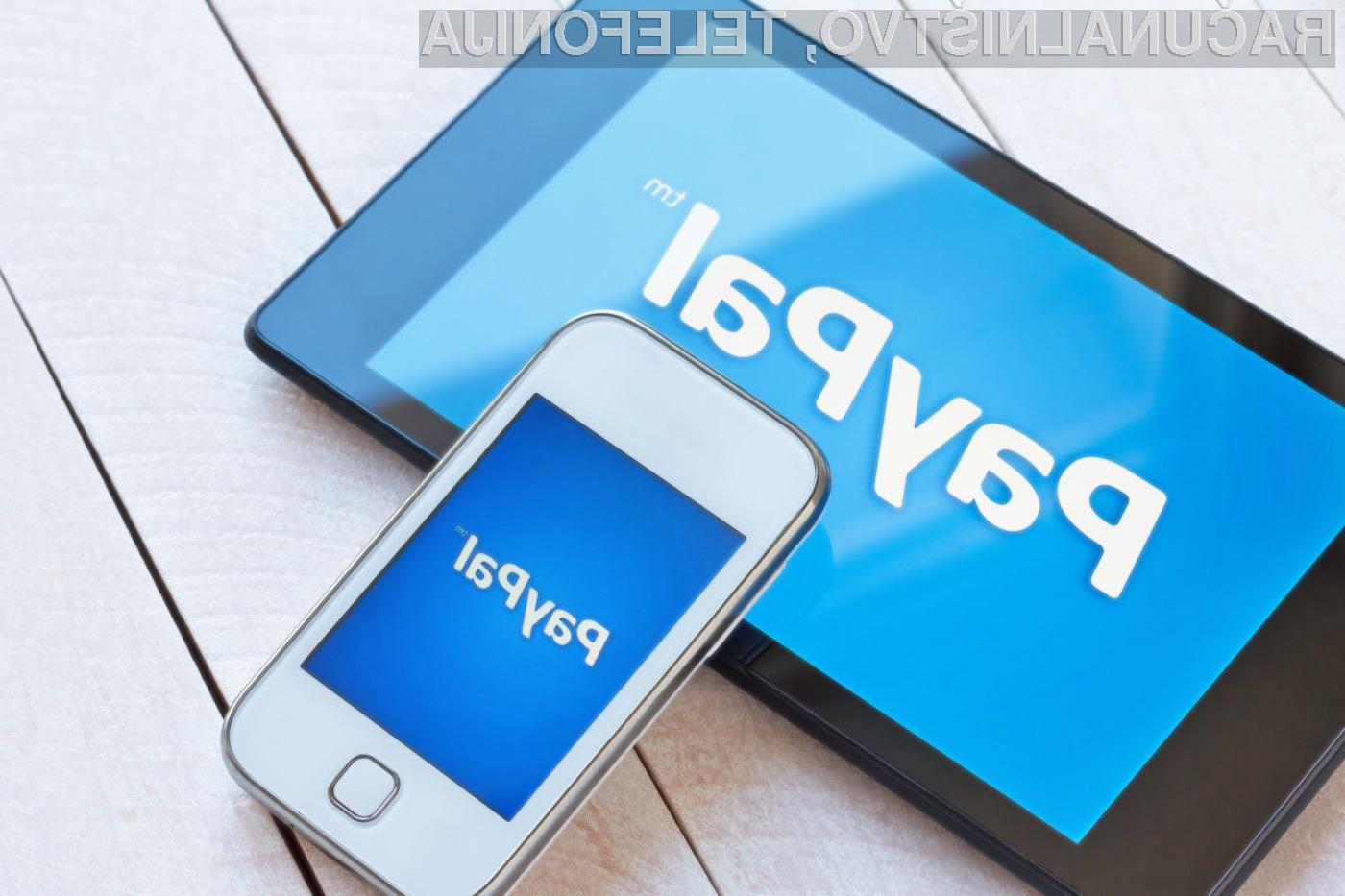 Uporabniki mobilnih naprav Windows Phone, BlackBerry in Amazon Fire bodo aplikacijo PayPal lahko uporabljali le še do konca junija.