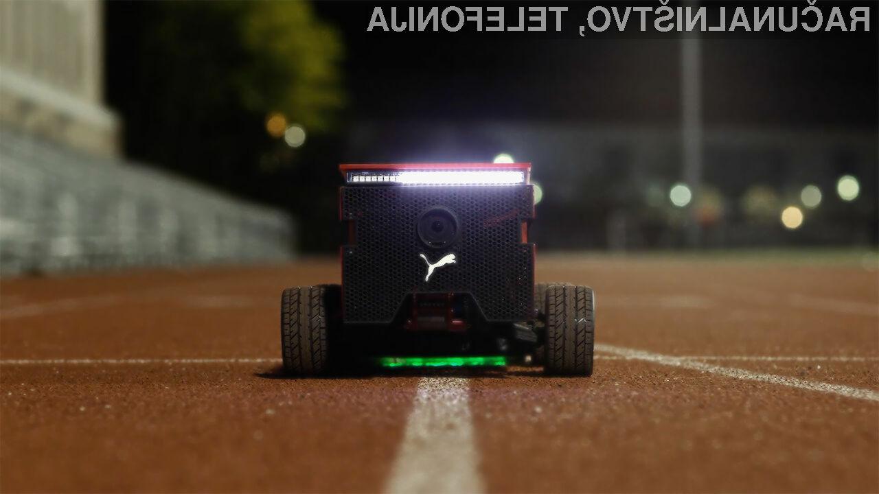 Robot Puma BeatBot lahko sledi tudi najbolj zagrizenim tekačem!