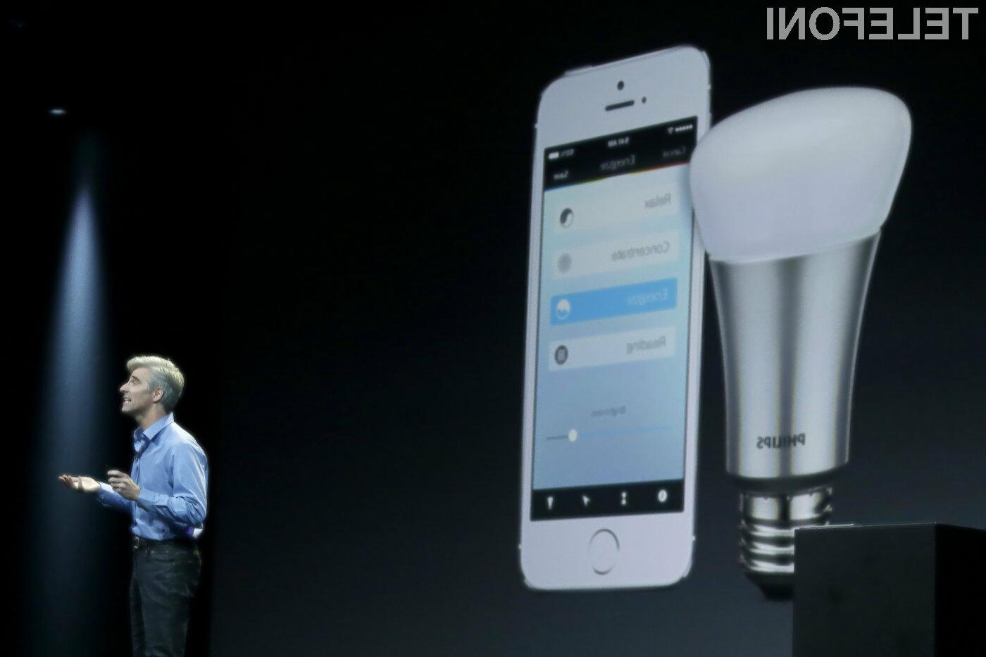 Mobilna aplikacija HomeKit naj bi bila združljiva z vsemi domačimi pametnimi napravami.