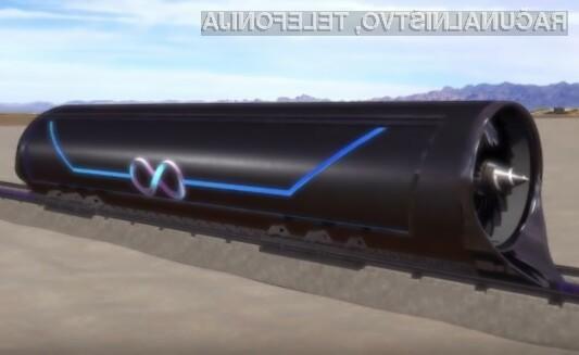 Superhitri vlak Hyperloop bo lahko potnike prevažal s hitrostjo do 1.200 kilometrov na uro.