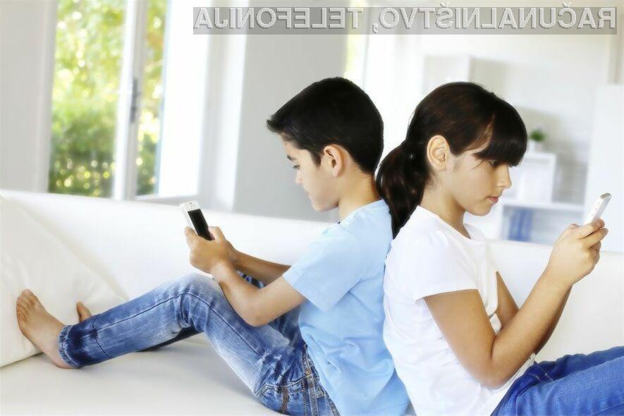 Starostna meja uporabe pametnih mobilnih telefonov se vse bolj znižuje.