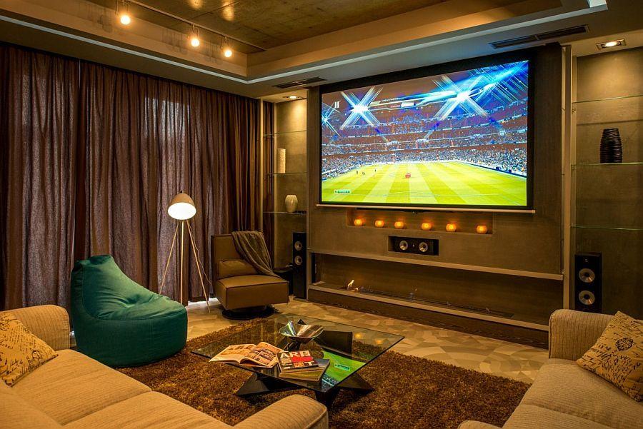 Projektor v dnevni sobi za užitek v EURO 2016