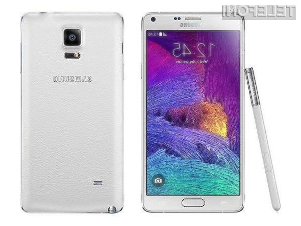 Posodobitev za Samsung Galaxy Note 4 je »težka« kar 1,4 gigabajtov.