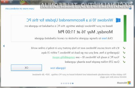 Bodite pozorni na vsako obvestilo, povezano z operacijskim sistemom Windows 10.