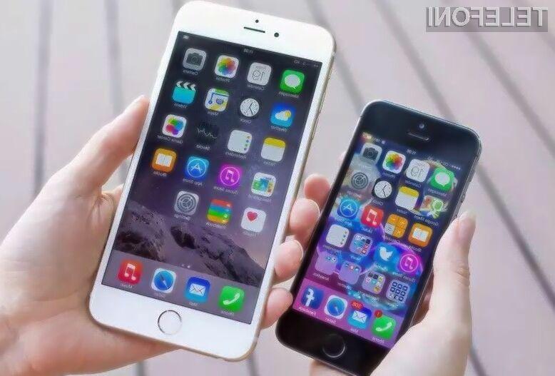 Ikone pri pametnem mobilnem teflonu iPhone se bodo prilagajale uporabnikovi roki.