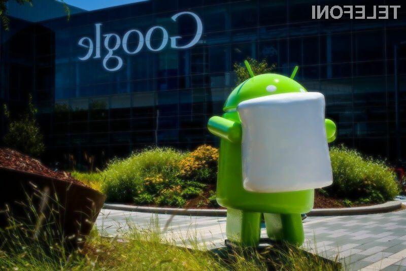 Najnovejši Android 6 Marshmallow naj bi bil nameščen na kar petini mobilnih naprav Android.