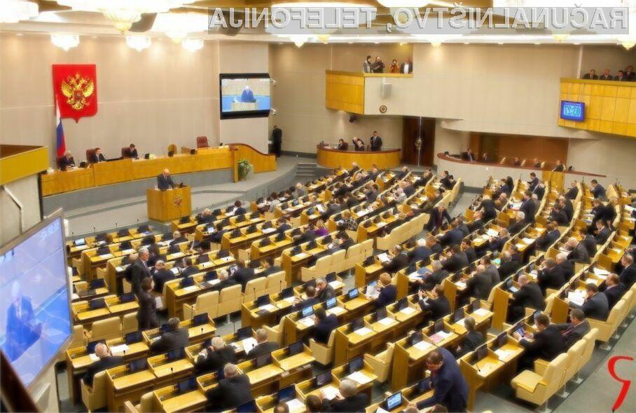 Ruski parlament razmišlja o možnosti denarnega kaznovanja vseh, ki ne bodo želeli dešifrirati sporočil uporabnikov.