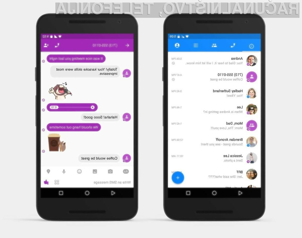Facebook Messenger podpira sporočila SMS tudi brez povezave v internet.