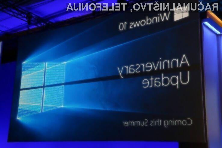 Vse naprave Windows 10 naj bi posodobitev Anniversary Update prejele najkasneje do konca letošnjega poletja.