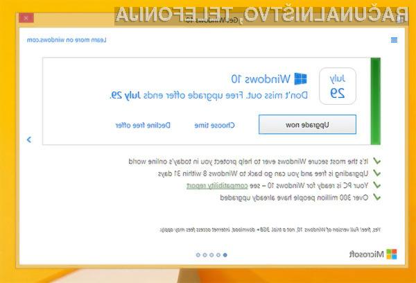 Zaradi bojazni pred množičnimi tožbami zoper podjetje Microsoft je to sprejelo odločitev, da bo povsem prenovilo okno za posodobitev na operacijski sistem Windows 10.
