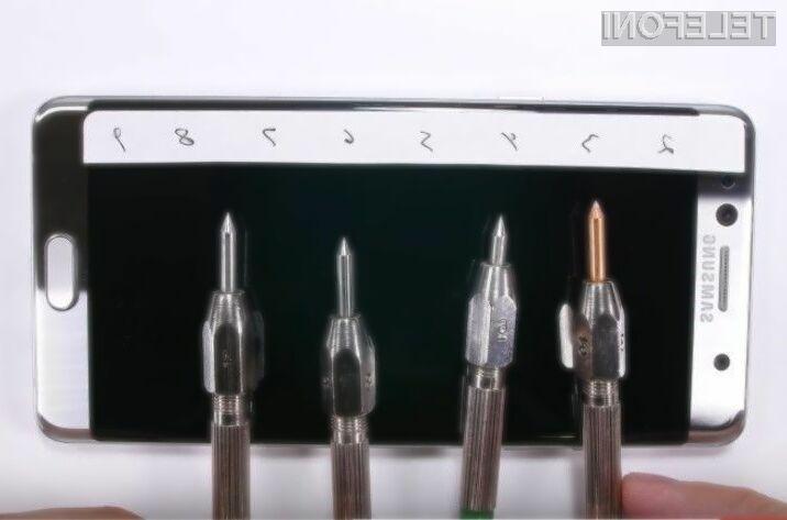 Brez dodatnega zaščitnega stekla se bo steklo pametnega mobilnega telefona Samsung Galaxy Note 7 takoj opraskalo.