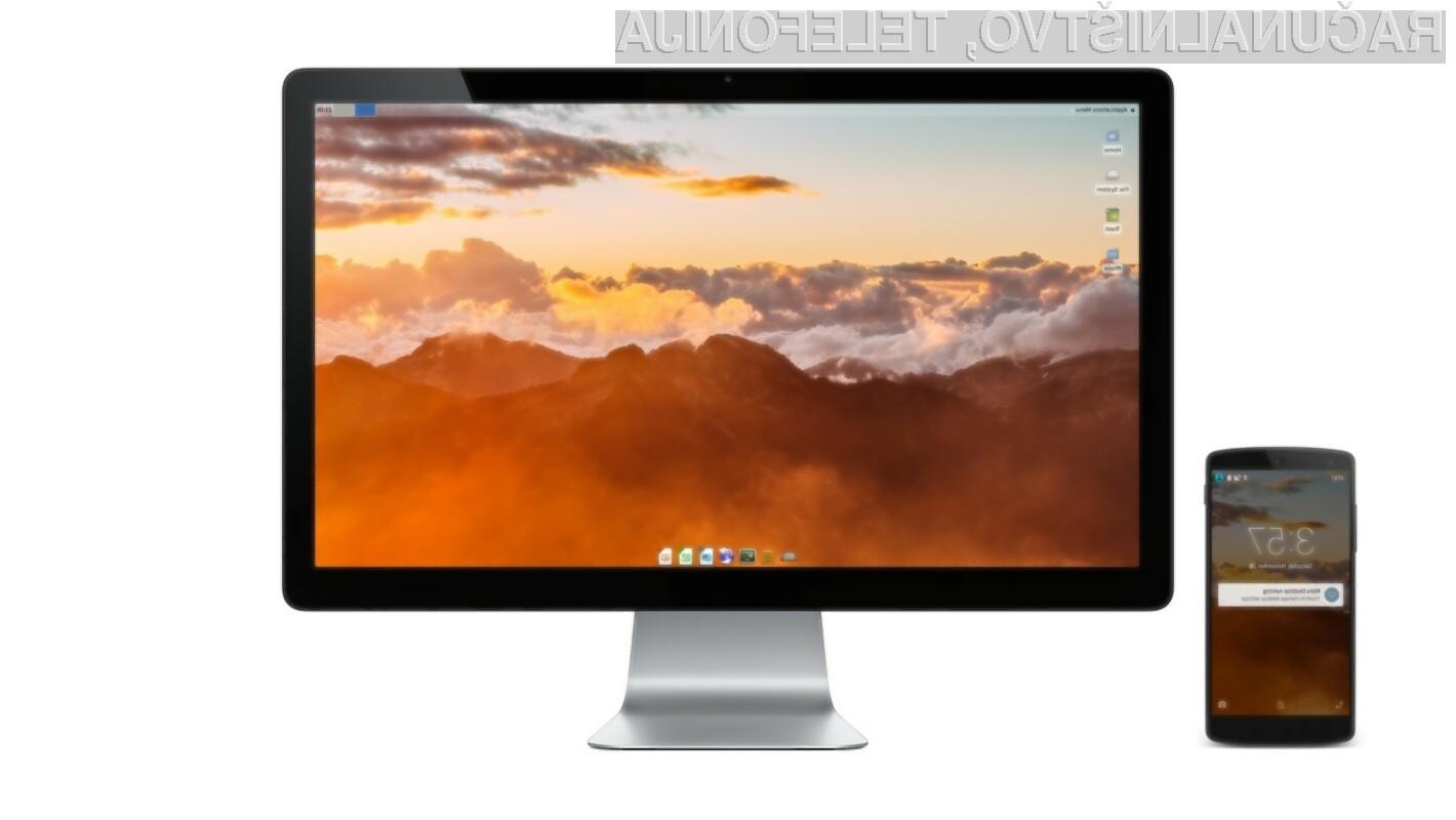 Mobilni operacijski sistem Maru OS ob priklopu na zunanji zaslon uporabniku ponudi čistokrvni Linux.