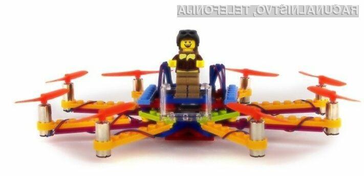 Dron iz lego kock Flybrix je enostaven za sestavo ter hkrati odporen proti padcem in trkom.