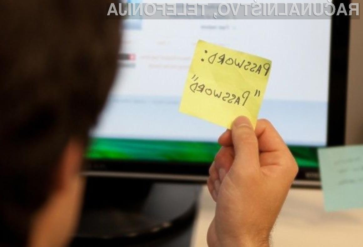 Dokumenti pisarniškega paketa Office niso primerni za shranjevanje pomembnih gesel!