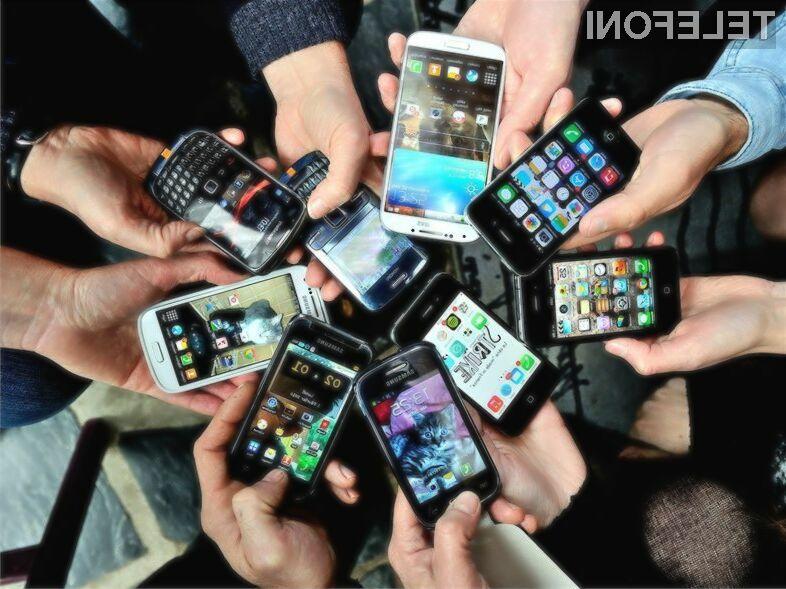 Največji delež pametnih mobilnih telefonov ima še vedno v rokah podjetje Samsung!