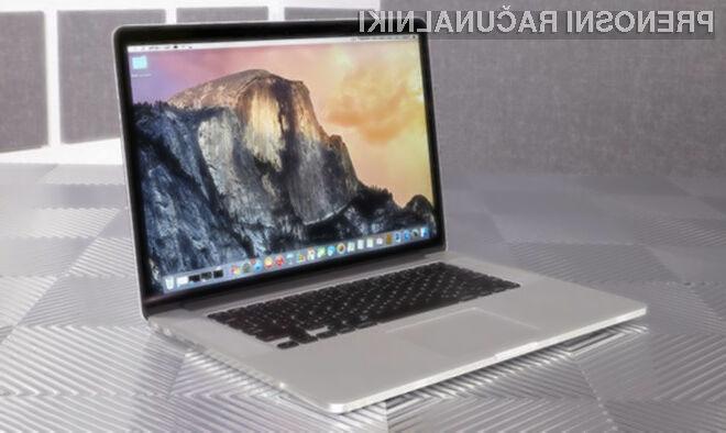 Težave z grafično kartico naj bi imelo več tisoč kupcev novih prenosnikov MacBook Pro!