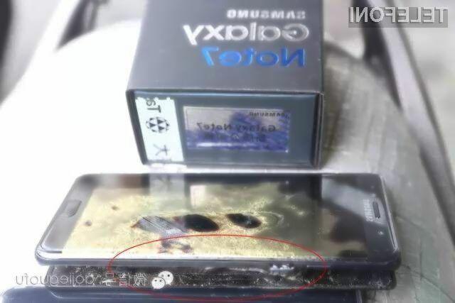 Za težave telefona Samsung Galaxy Note 7 naj bi bila kriva zasnova ohišja!