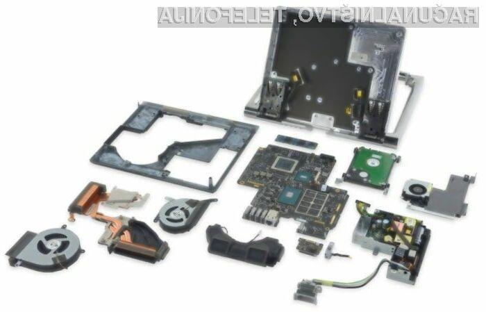 Novi osebni računalnik Microsoft Surface Studio je od 10 možnih točk na račun popravljivosti dobil pet!