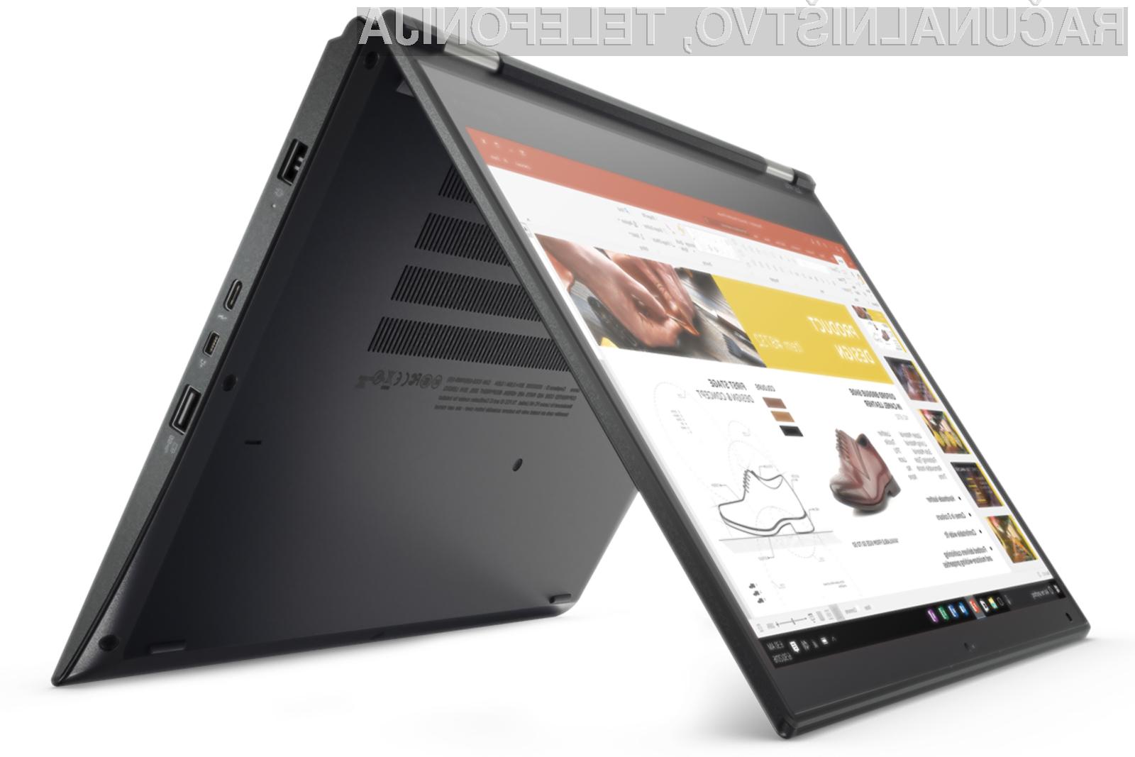 Novi prenosniki Lenovo ThinkPad vas bodo zlahka prepričali!