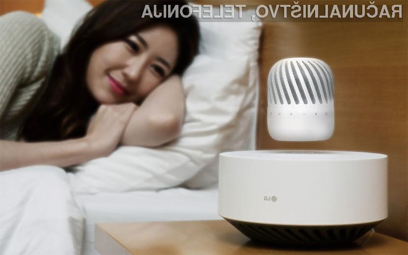 Lebdeči zvočnik PJ9 podjetja LG bo zagotovo očaral vaše goste!
