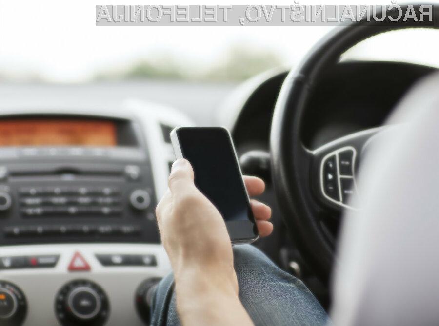 Zaradi neprevidnosti voznikov pri uporabi Facetima se je število prometnih nesreč v ZDA povečalo za več kot deset odstotkov.