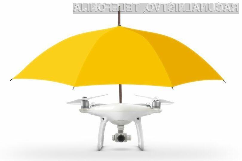 Dron  Umbrella Drone nas bo uspešno varoval pred dežjem!