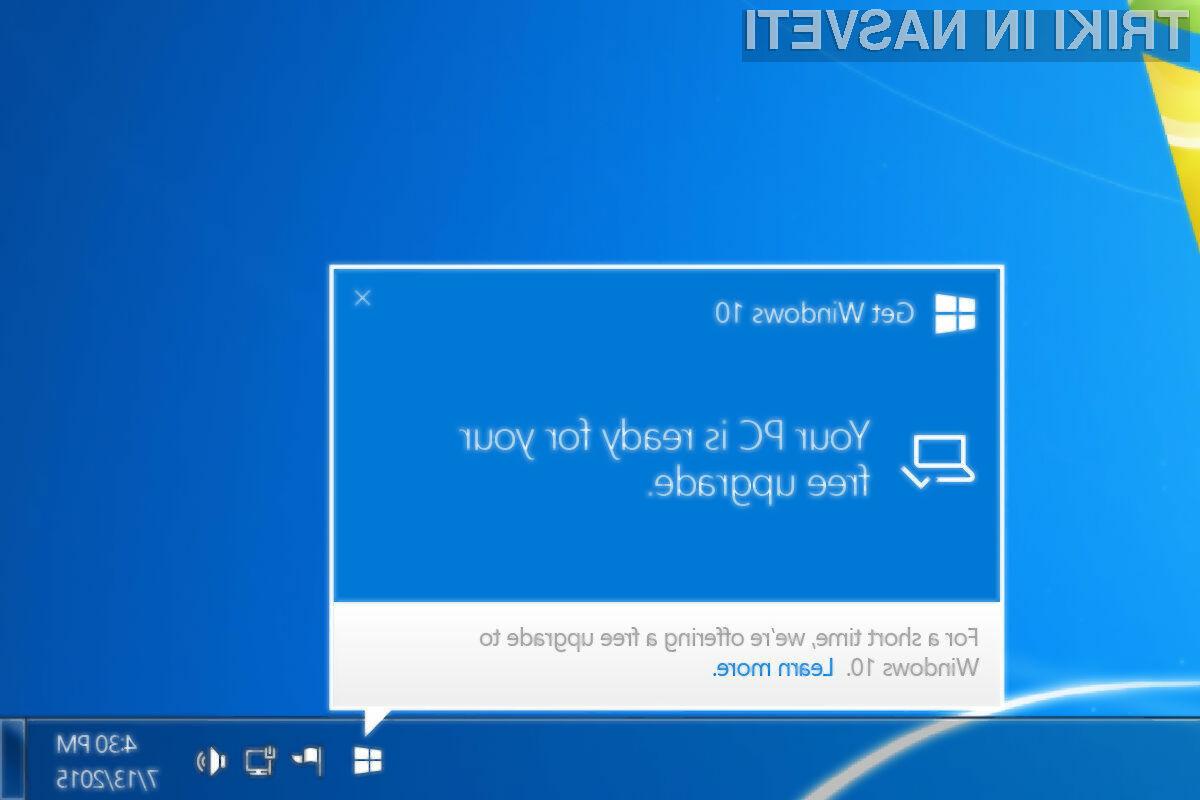 Brezplačna nadgradnja na Windows 10 je še vedno mogoča!