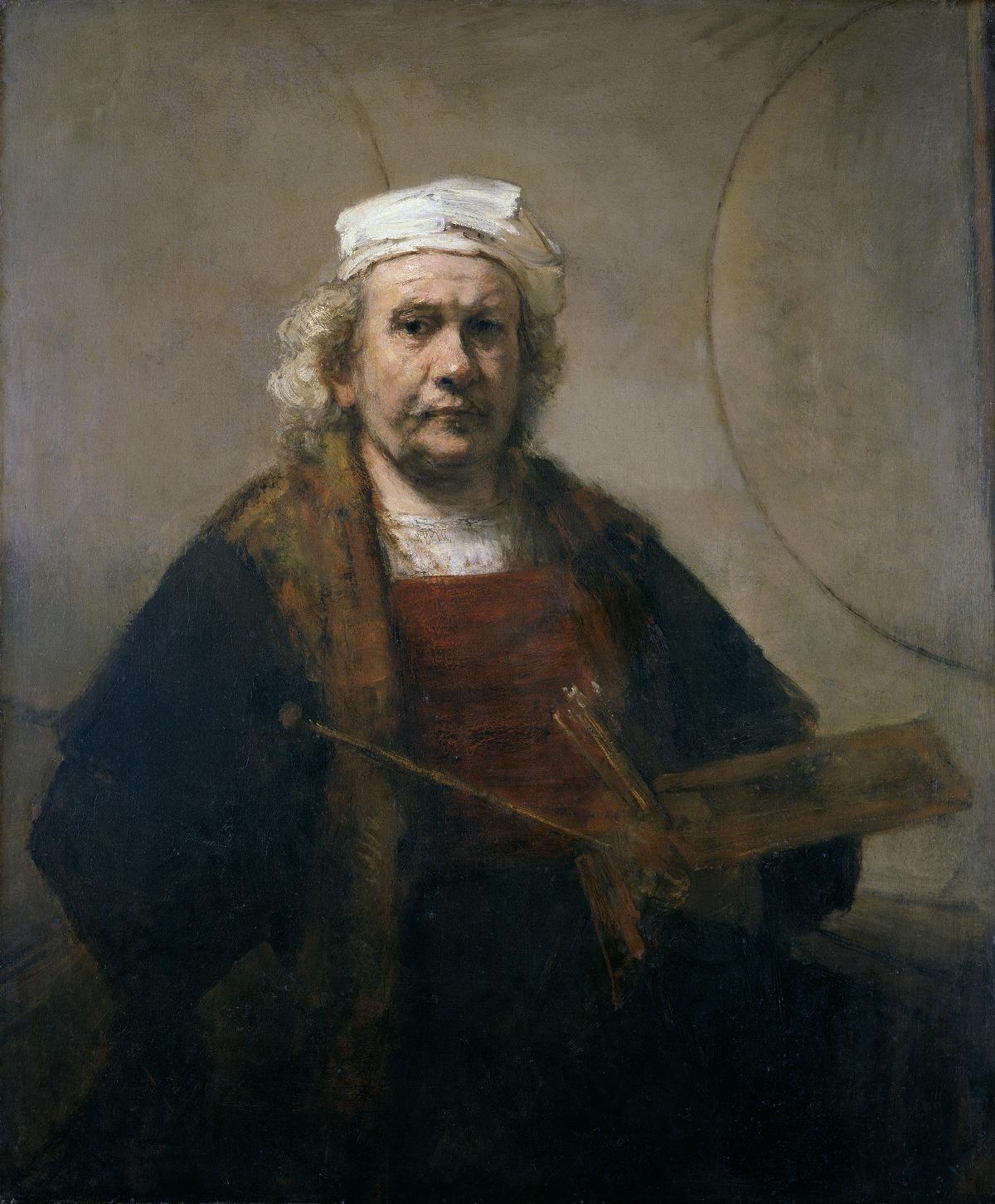 Rembrandt van Rijn Self-Portrait with Two Circles