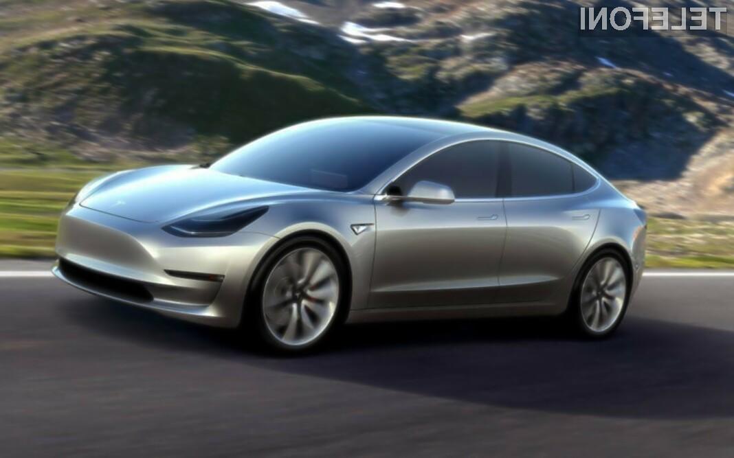 Zanimanje za nov električni avtomobil podjetja Tesla je nad vsemi pričakovanji!