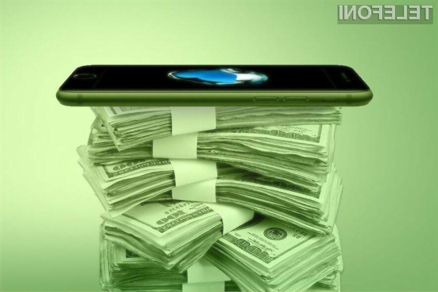 Podjetje Apple od prodaje pametnih mobilnih telefonov iPhone pobere zdaleč največ marže!