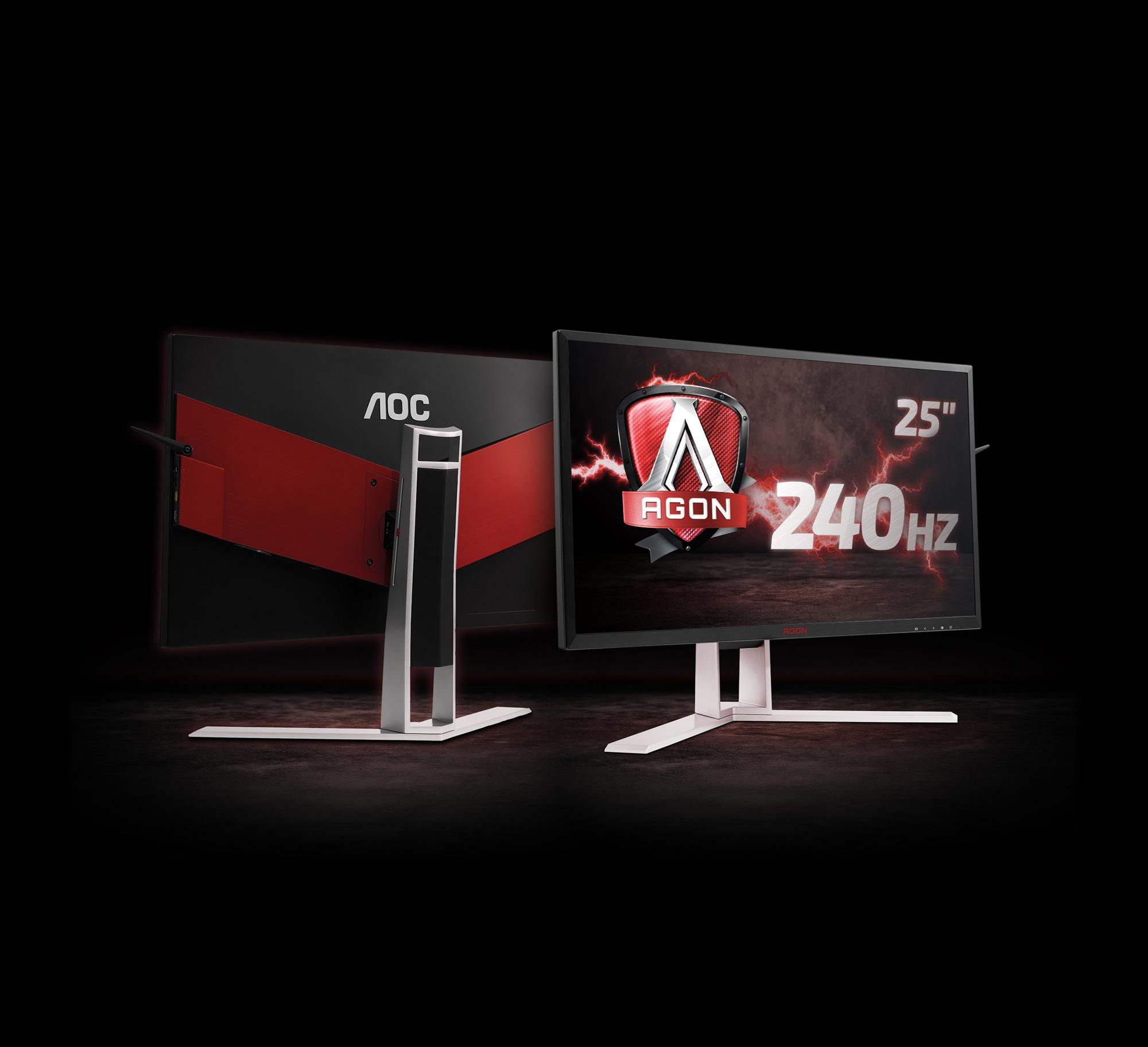 AOC AGON AG251FG s frekvenco osveževanja 240 Hz in tehnologijo NVIDIA G-SYNC
