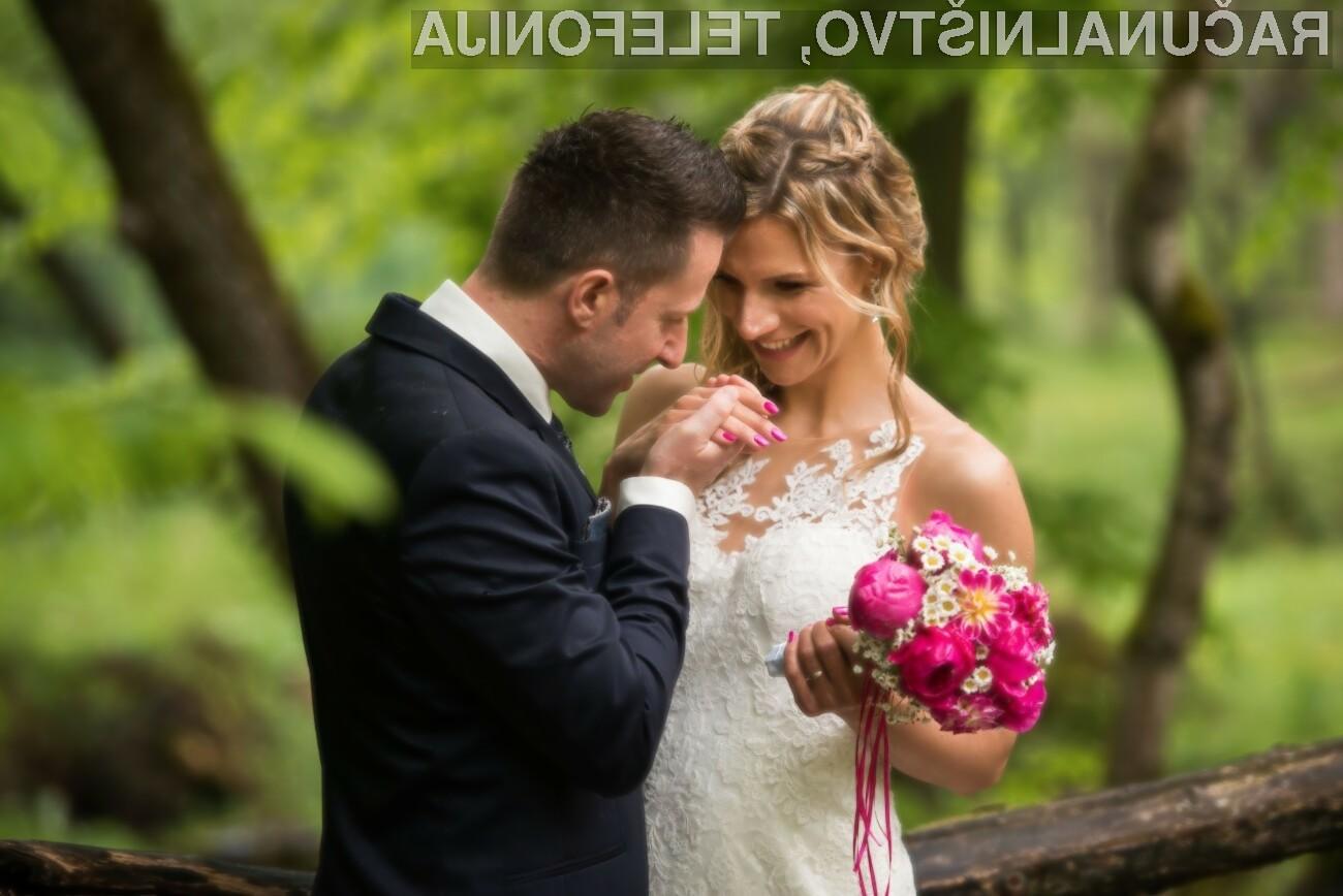 Monika in Borut sta se spoznala na ona-on.com, zdaj pa sta svojo ljubezen okronala še s Sanjsko ona-on.com poroko.