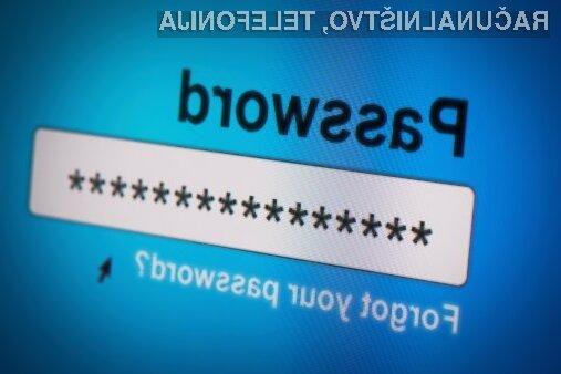 Za vsako spletno stran bi morali imeti svoje geslo!