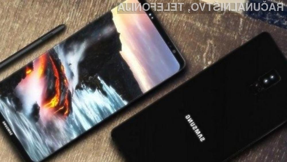 Samsung Galaxy Note 8 bo na voljo konec septembra za vsaj tisoč evrov.