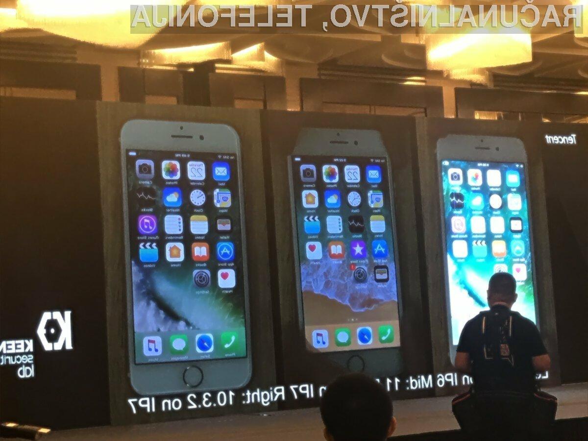 Varnostna zaščita v mobilnem operacijskem sistemu iOS 11 je bila pretrd oreh za kitajske varnostne strokovnjake.