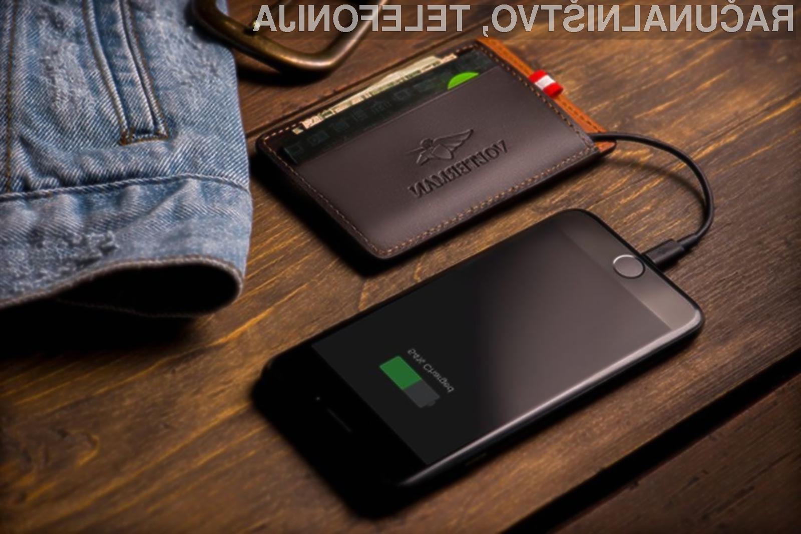 Pametna denarnica Volterman je vseopravilna, z njo pa lahko napolnimo celo pametni mobilni telefon.
