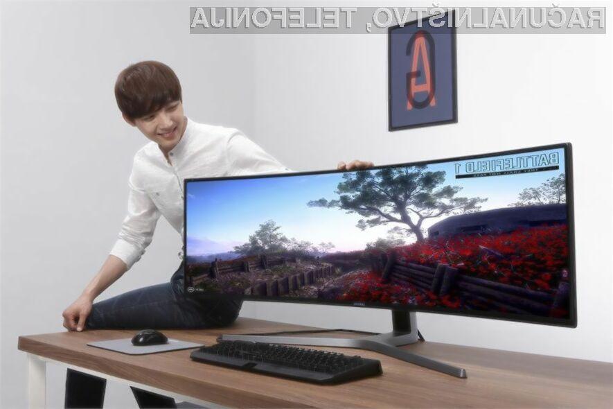 Zaslon Samsung CHG90 bo zlahka kos tudi najzahtevnejšim nalogam!