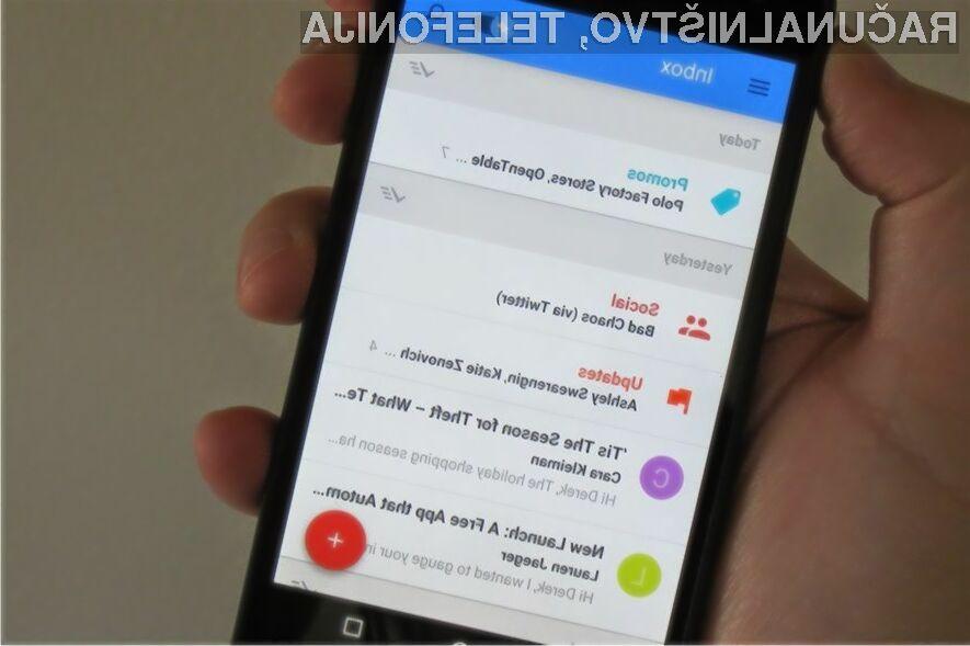 Največja pridobitev novega odjemalca elektronskega poštnega odjemalca Inbox za Android je enoten poštni predal.
