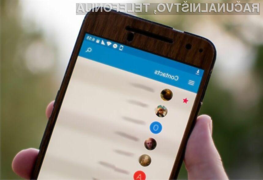 Mobilno aplikacijo Google Contacts lahko odslej namestijo vsi uporabniki Androida 5.0 Lollipop ali novejšega.