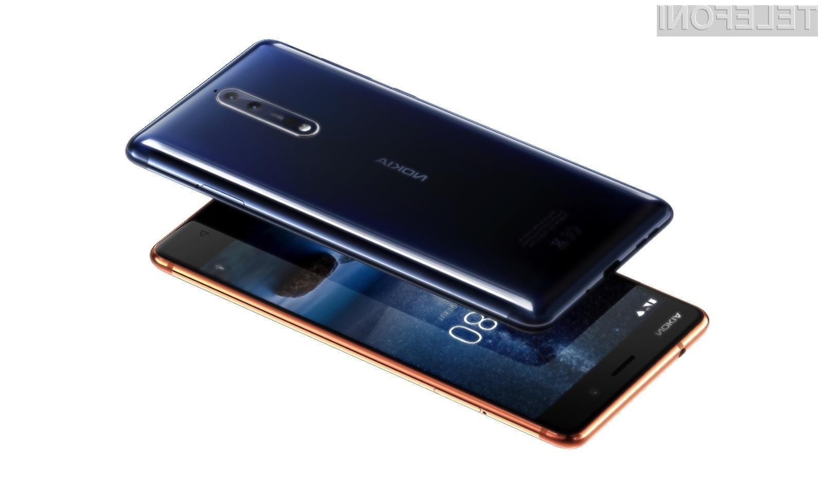 Pametni mobilni telefon Nokia 8 je vsaj zaenkrat upravičil vsa pričakovanja!