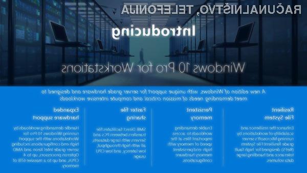 Windows 10 Pro for Workstations je namenjen najzmogljivejšim osebnim računalnikom!