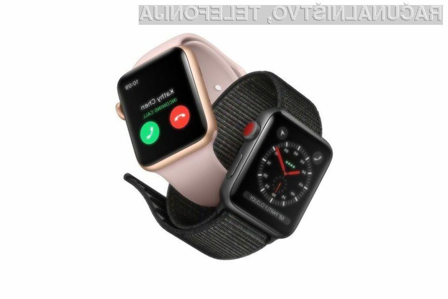 Zanimanje za pametno ročno uro Apple Watch Series 3 LTE naj bi kmalu upadlo.