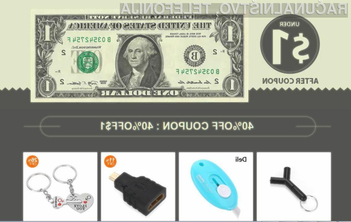 Številne zanimive izdelke lahko na spletni strani GearBest kupimo že za manj od ameriškega dolarja!