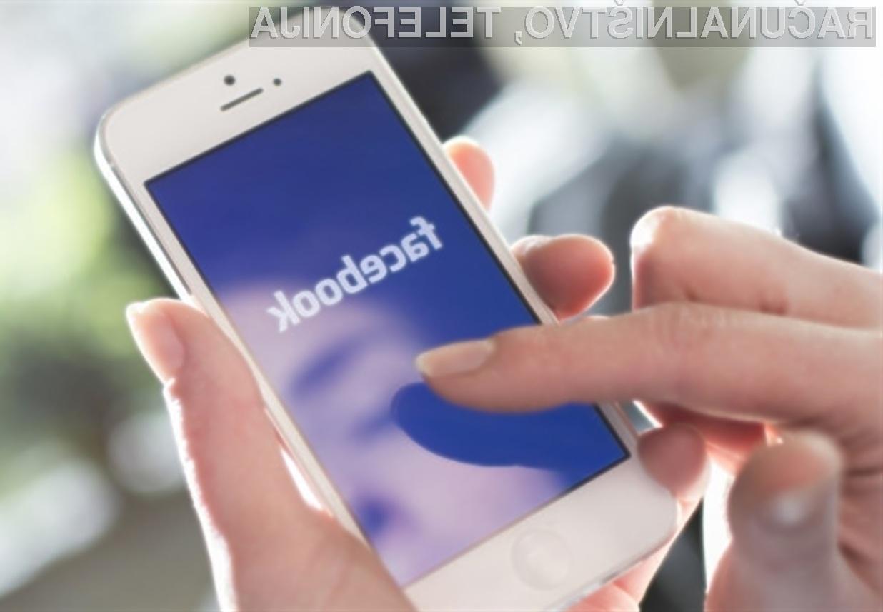 Prijava v Facebook profil naj bi bila kmalu mogoča kar s skeniranjem obraza!