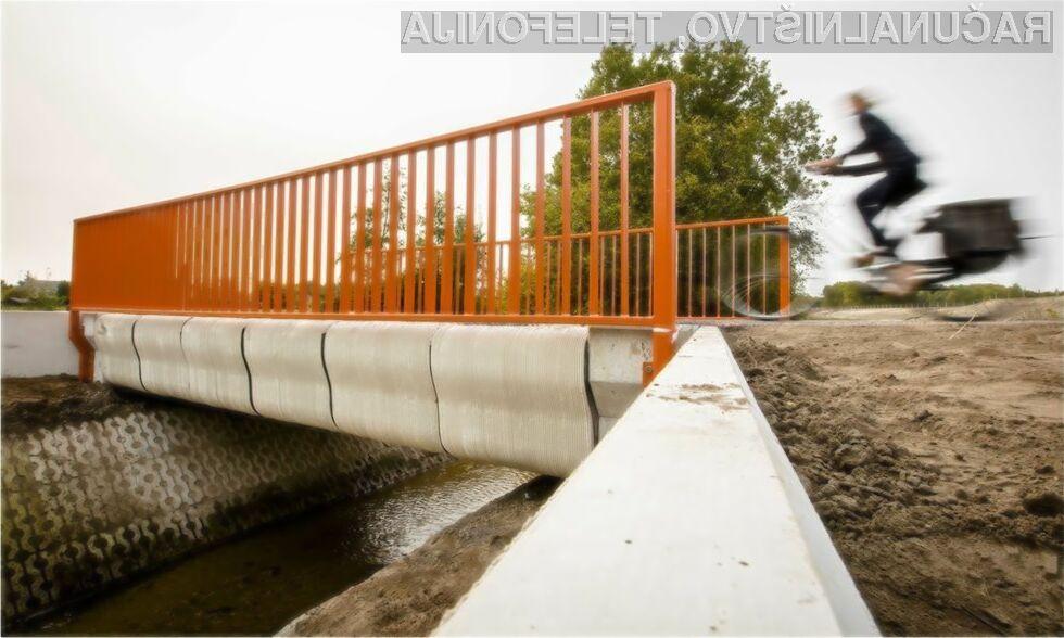 Prvi natisnjen most naj bi po oceni strokovnjakov zdržal vsaj 30 let!