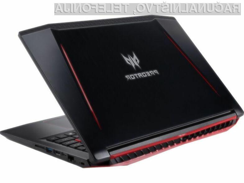 Novi prenosnik Acer Predator Helios 300 bo zlahka kos tudi najzahtevnejšim igram.