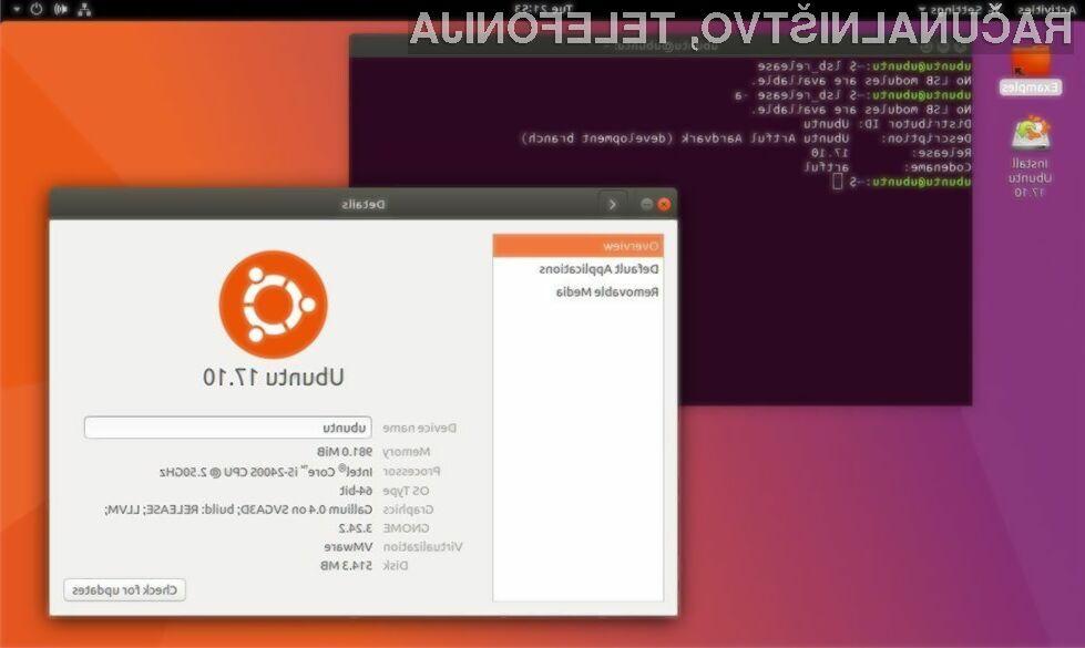 Novi Ubuntu 17.10 bo na voljo le v 64-bitni različici.