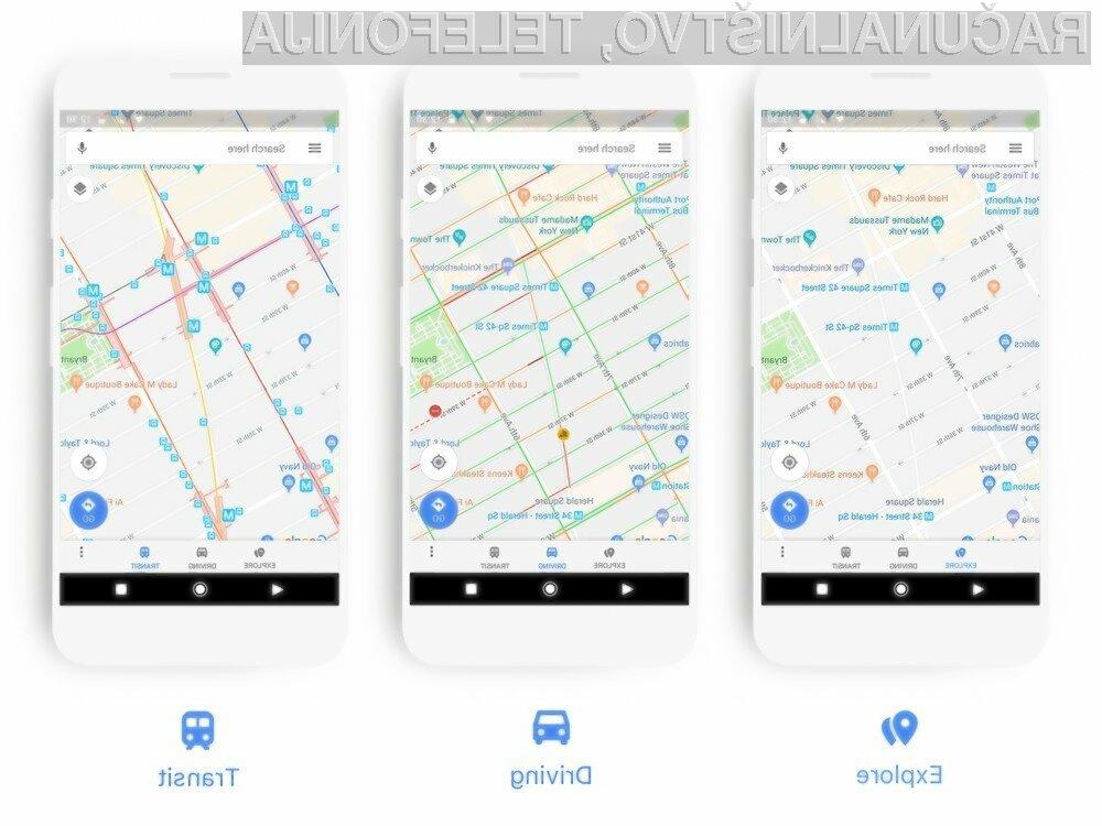 Novi Google Maps bo precej olajšal navigacijo!