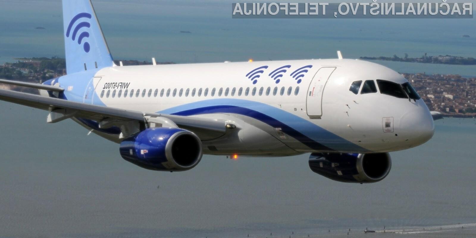 Vse več letalskih družb potnikom ponuja hiter dostop do svetovnega spleta.