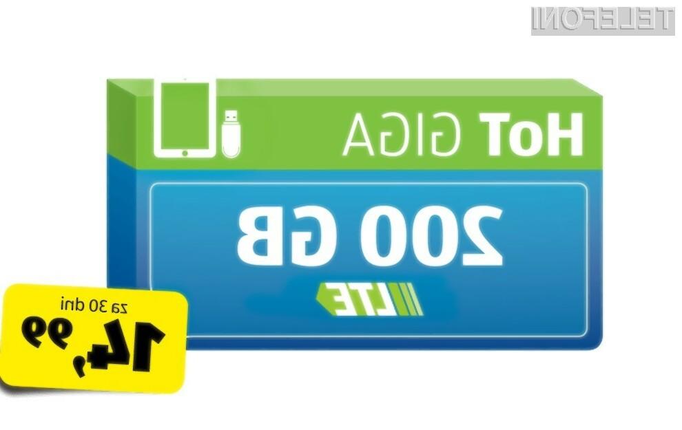 Nova tarifa ponuja kar 200 GB prenosa podatkov